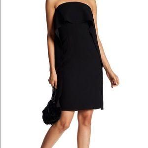 New Trina Turk genius black strapless dress